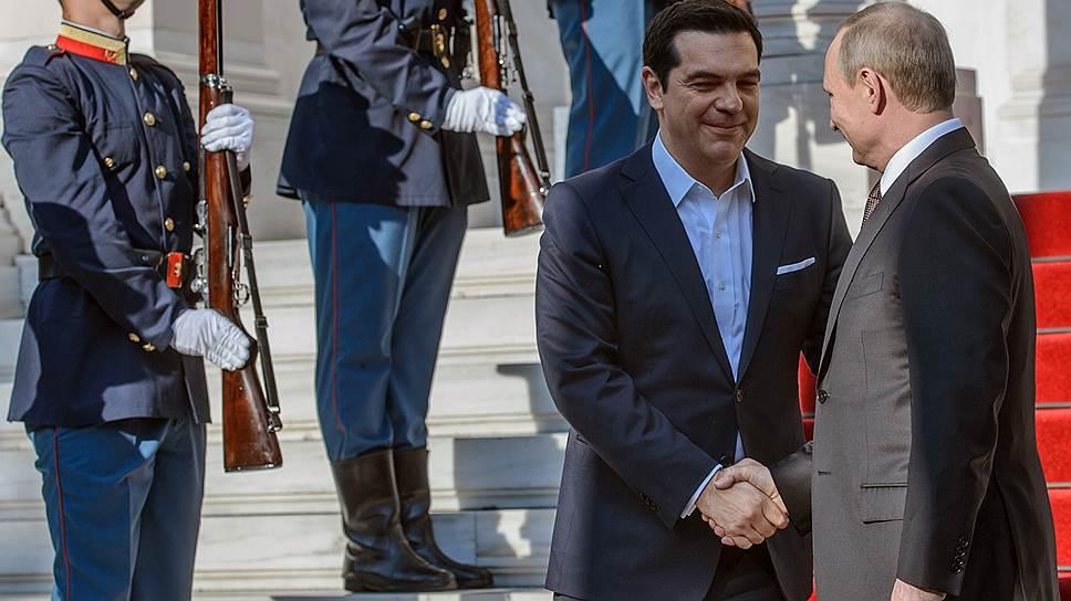 Как Владимир Путин прибыл с визитом в Грецию