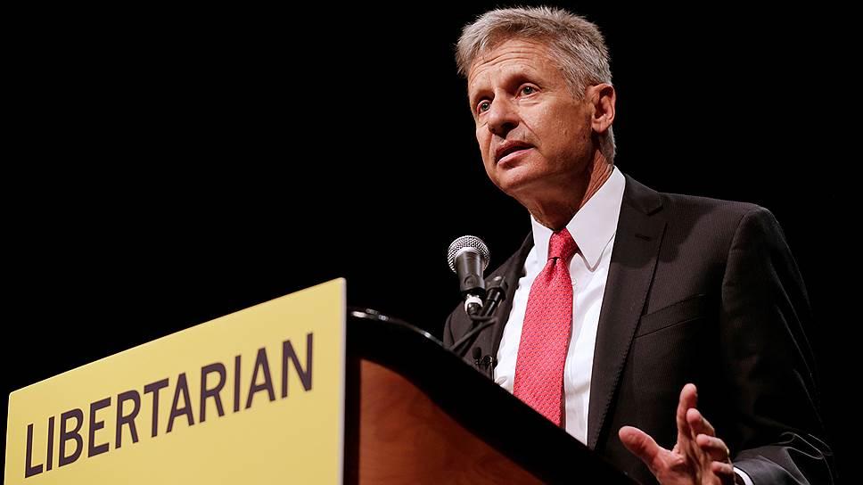 Кандидат в президенты США от Либертарианской партии, бывший губернатор штата Нью-Мексико Гэри Джонсон