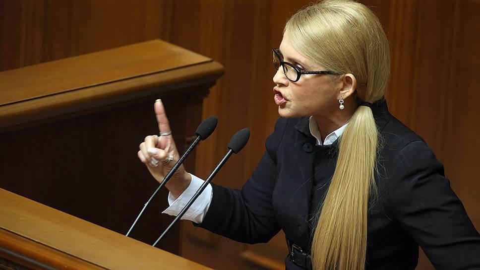 Депутат Верховной Рады Украины, лидер партии «Батькивщина» Юлия Тимошенко