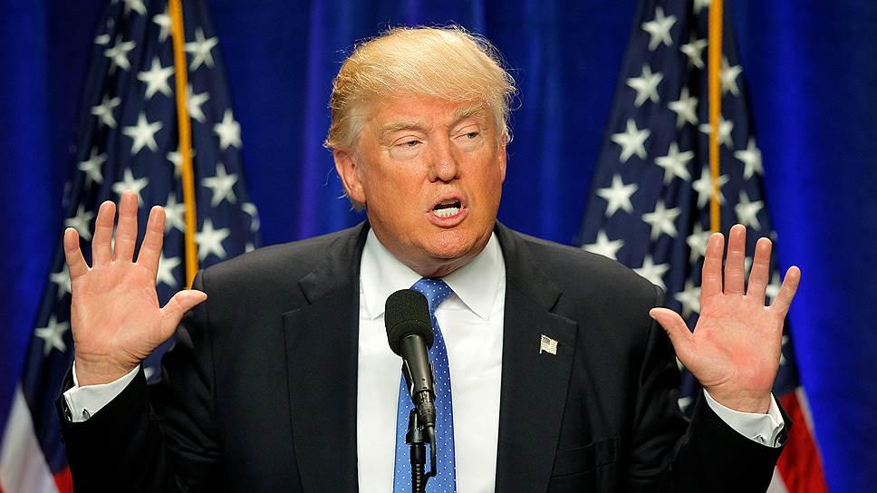 Кандидат в президенты от Республиканской партии США Дональд Трамп