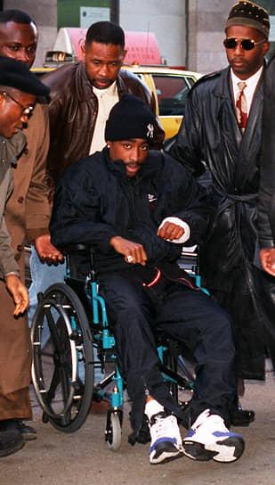 30 ноября 1994 года на Тупака было совершено нападение, в результате которого он получил пять огнестрельных ранений. На следующий день он был взят под стражу по обвинению в изнасиловании, а 7 февраля 1995 приговорен к лишению свободы на срок от полутора до четырех с половиной лет. Через месяц после приговора был выпущен его третий сольный диск «Me Against the World» — таким образом, Тупак Шакур стал первым в мире музыкантом, который выпустил альбом, находясь под стражей. Этот альбом оказался лидером чартов и приобрел статус платинового