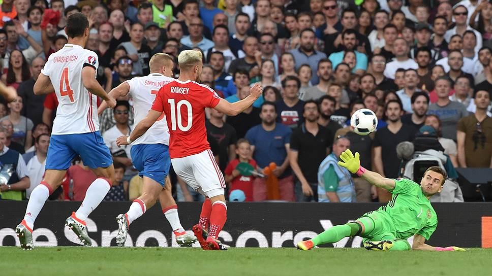 Россия—Уэльс — 0:3