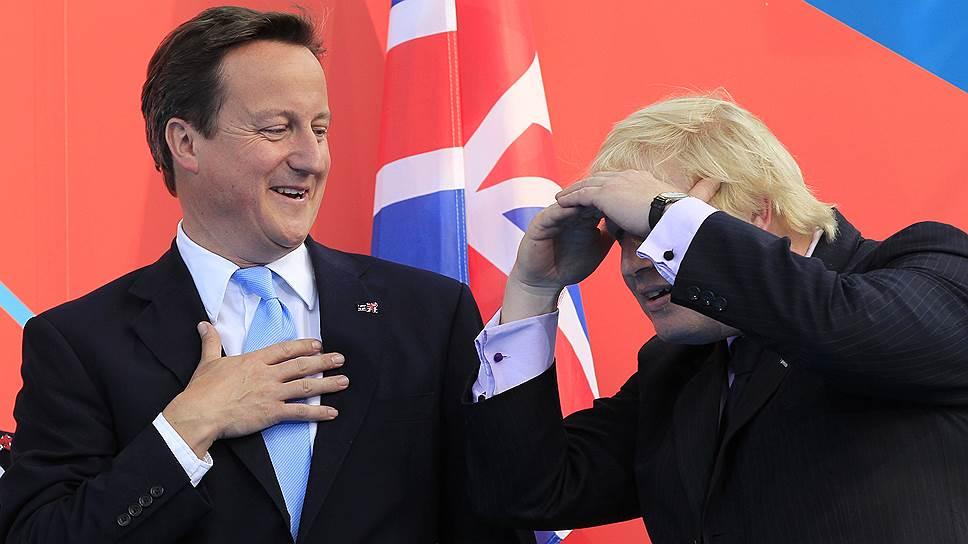 Премьер-министр Великобритании Дэвид Кэмерон (слева) и бывший мэр Лондона Борис Джонсон
