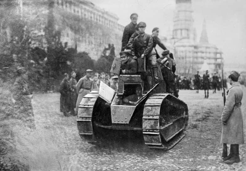 В 1920–1921 годах на нем собрали 15 боевых машин «Рено русский» (каждый стоил 36 тыс. руб.). Первый образец был назван «Борец за свободу товарищ Ленин»