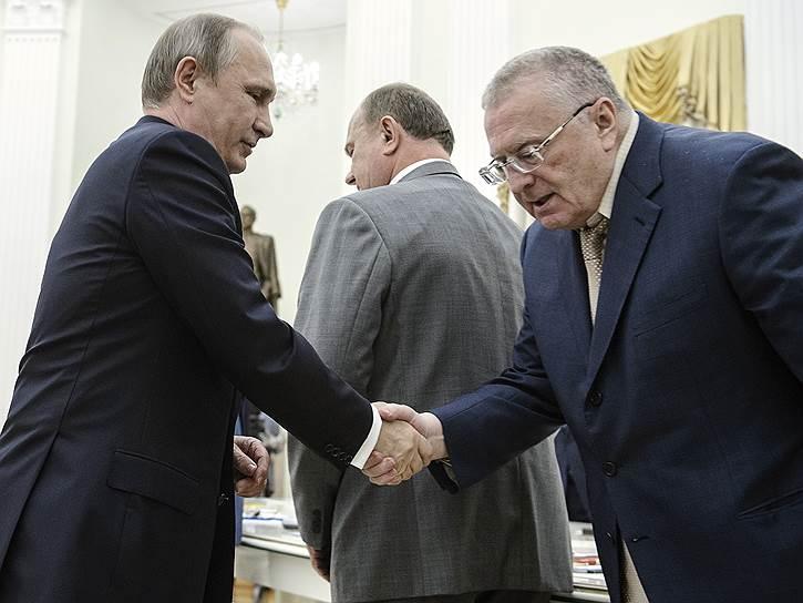 Владимир Жириновский готов был уделить Владимиру Путину столько времени, сколько тому потребуется