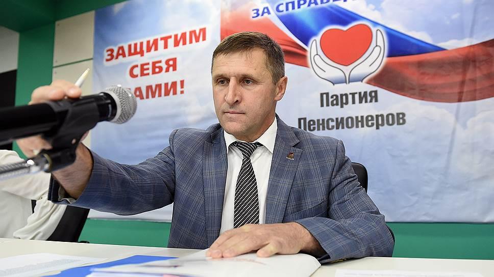 Евгений Артюх жалуется президенту, что на Партию пенсионеров оказывается давление