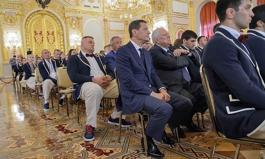 Члены олимпийской сборной России на встрече с Владимиром Путиным в Кремле