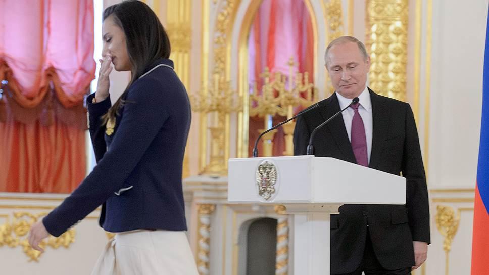 Как Владимир Путин встретился с членами олимпийской сборной России
