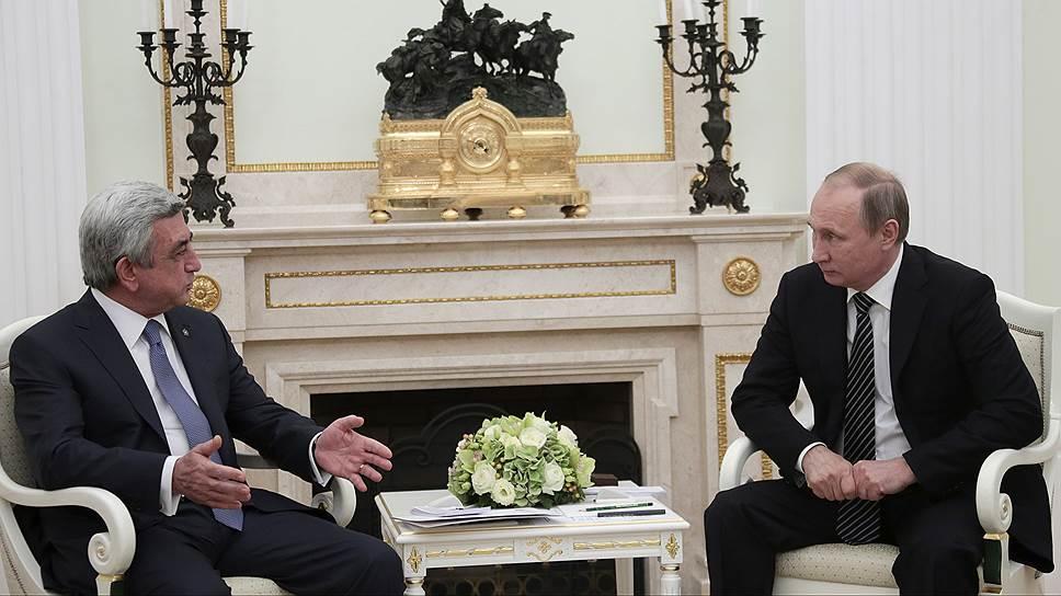 Как Владимир Путин с Сержем Саргсяном обсудили урегулирование конфликта в Нагорном Карабахе