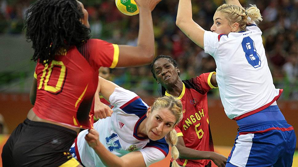 Как российские гандболистки сыграли со сборной Анголы