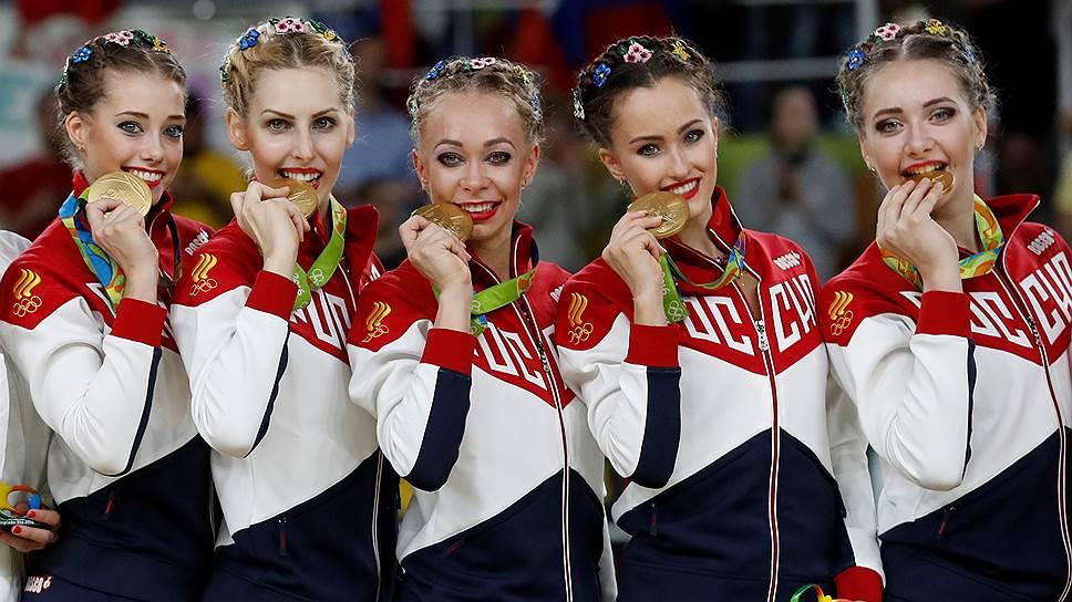 Сборная России по художественной гимнастике выиграла все что только можно