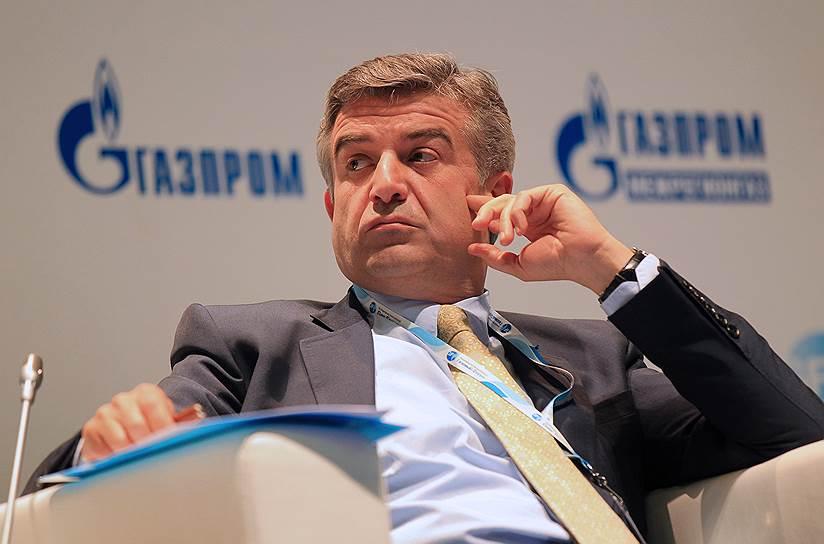 Экс-мэр Еревана и бывший топ-менеджер компании «Газпром» Карен Карапетян