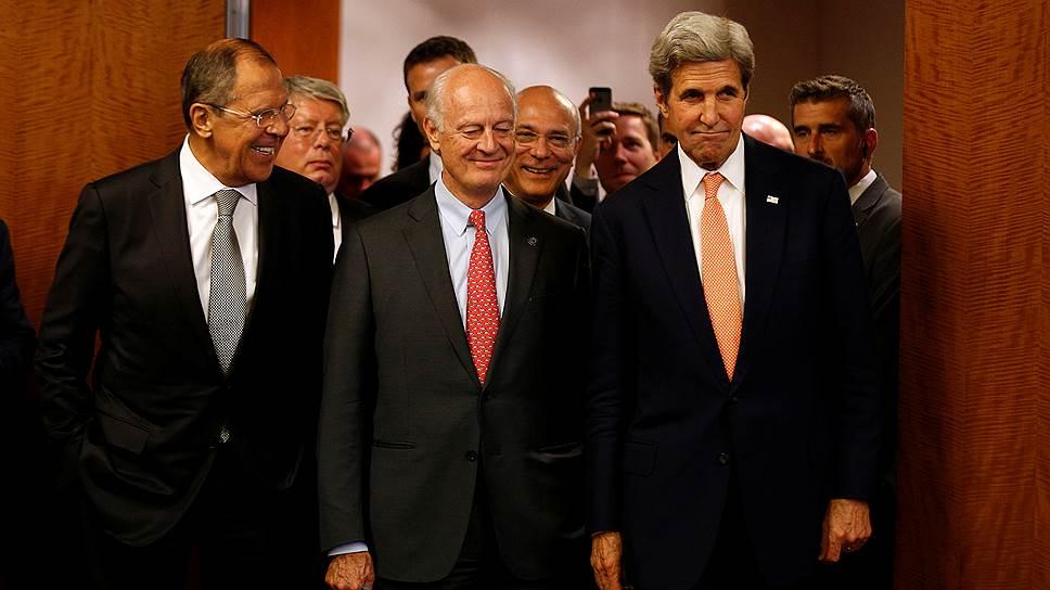 Как Сергей Лавров и Джон Керри согласовывали пакет документов по сирийскому урегулированию