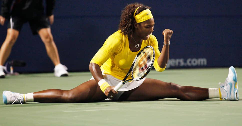 За долгую карьеру Серена Уильямс трижды становилась олимпийской чемпионкой в парном разряде, на Олимпиаде-2012 в Лондоне она также выиграла одиночные состязания. На ее счету более 20 побед в турнирах Большого шлема. В парном разряде теннисистка 14 раз становилась победительницей турниров Большого шлема, еще дважды завоевывала этот титул в смешанном разряде