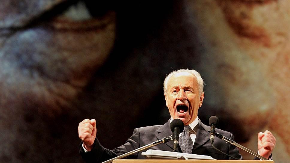 Бывший президент Израиля Шимон Перес