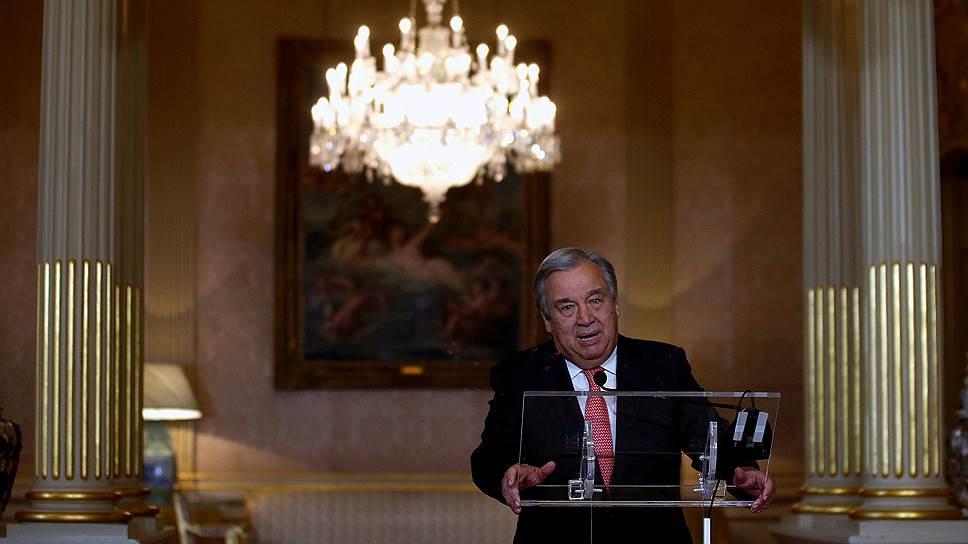 Бывший премьер-министр Португалии, новый генсек ООН Антониу Гутерриш
