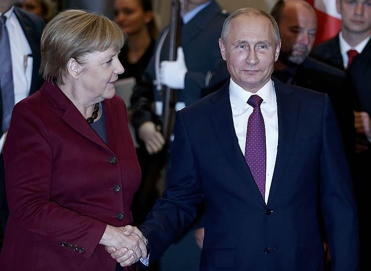 Канцлер ФРГ Ангела Меркель и президент России Владимир Путин