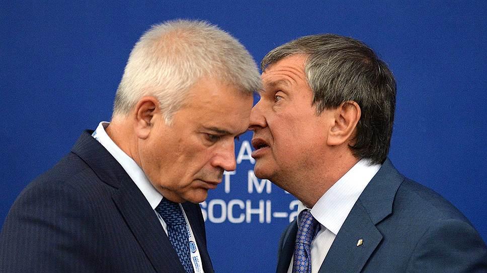 Президент ЛУКОЙЛа Вагит Алекперов и председатель правления «Роснефти» Игорь Сечин