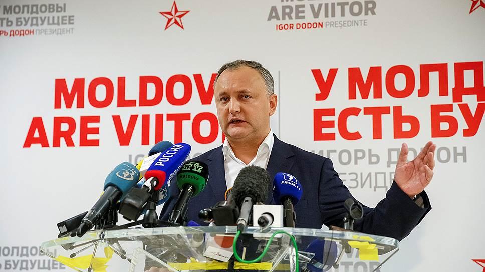 Избранный президент Молдавии Игорь Додон