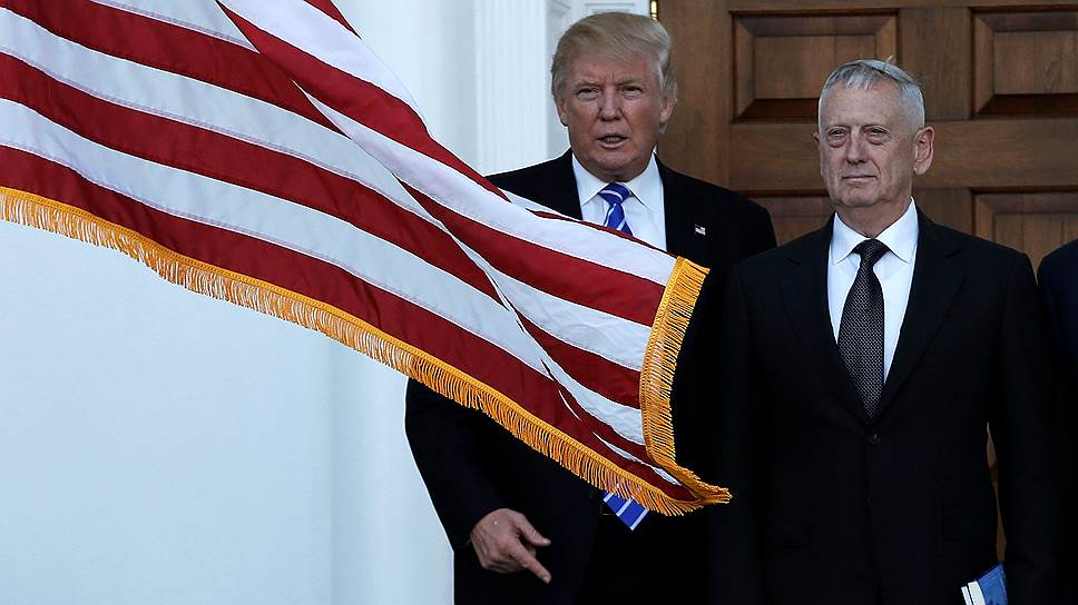 Избранный президент США и генерал Джеймс Мэттис