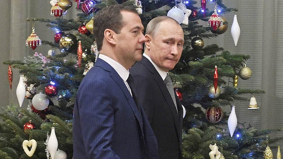Премьер-министр России Дмитрий Медведев и президент Владимир Путин