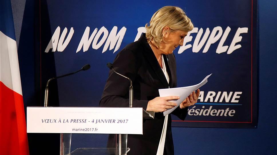 Глава правого движения «Национальный фронт» Марин Ле Пен