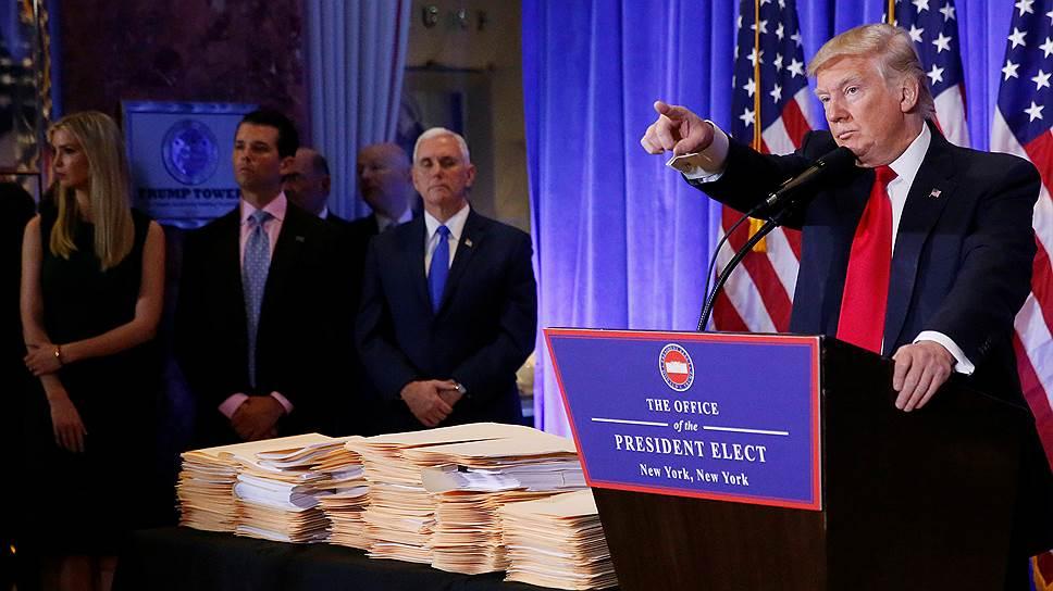 Как Дональд Трамп провел первую пресс-конференцию в качестве избранного президента США