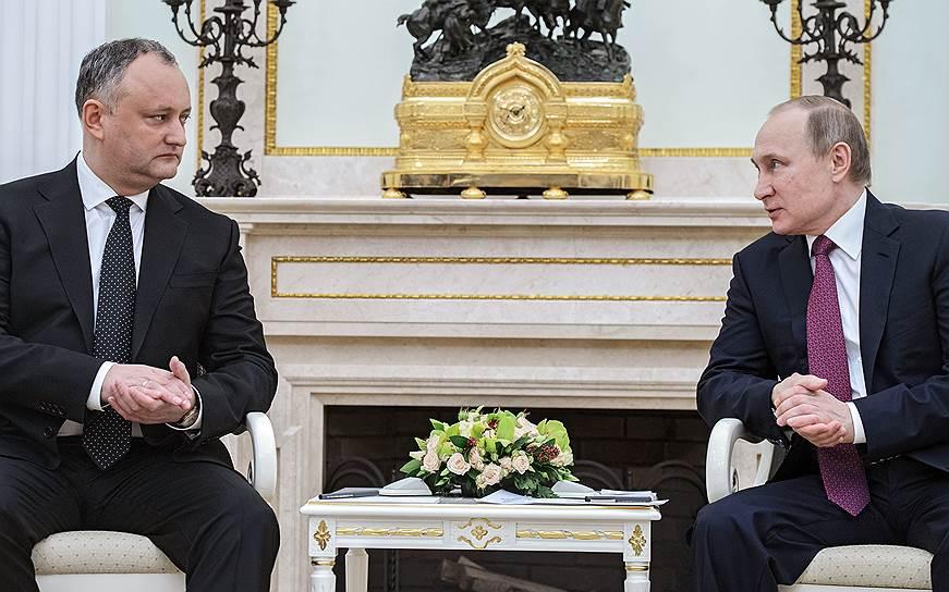 Между Владимиром Путиным и Игорем Додоном нашлось много общего