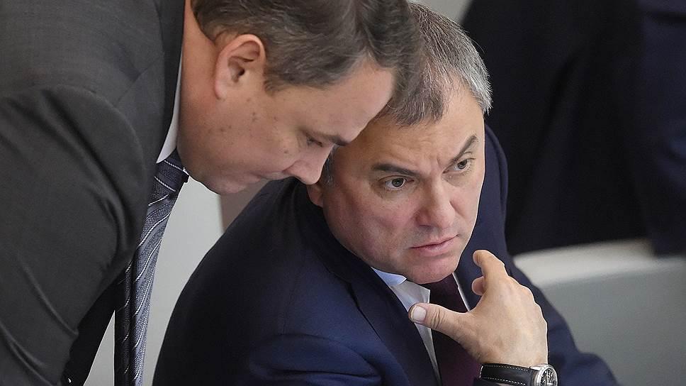 Как спикер Госдумы Вячеслав Володин заступился за своего заместителя Петра Толстого