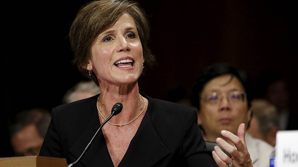 Бывший министр юстиции США Салли Йетс