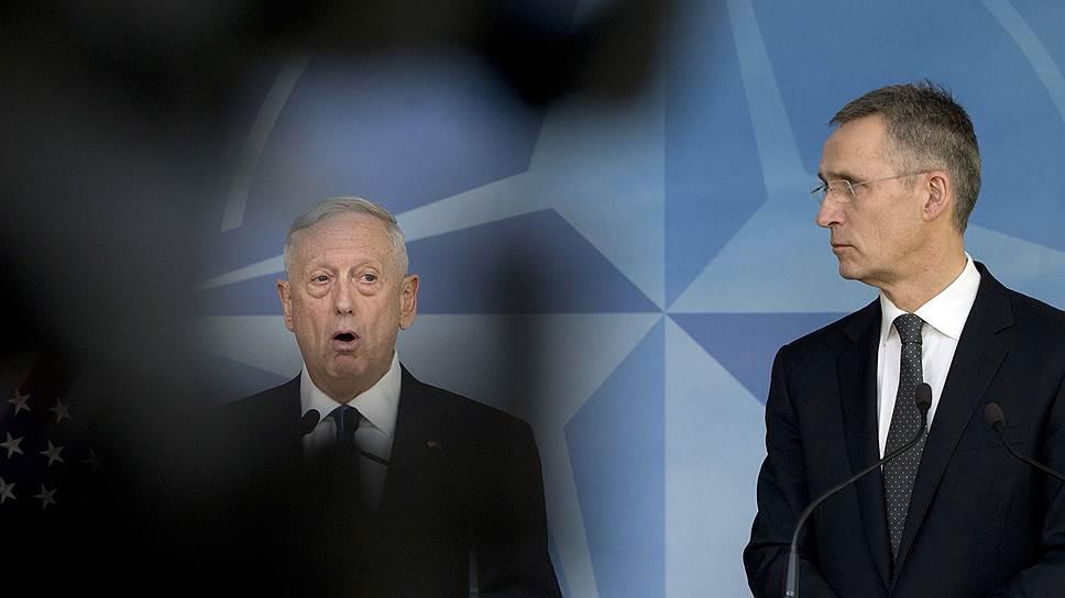 Глава Пентагона Джеймс Мэттис потребовал от коллег из стран альянса повысить военные расходы