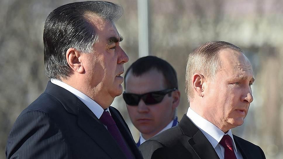 Как Владимир Путин встретился с Эмомали Рахмоном