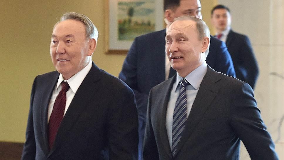 Президенты России и Казахстана похвалили друг друга за успешное сотрудничество