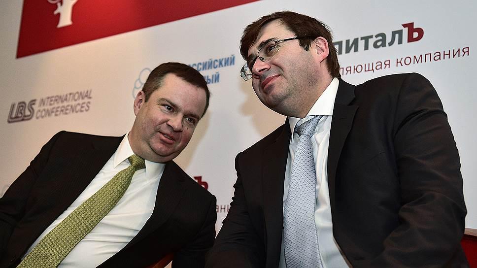 Замминистра финансов России Алексей Мосеев (слева) и первый зампред ЦБ Сергей Швецов