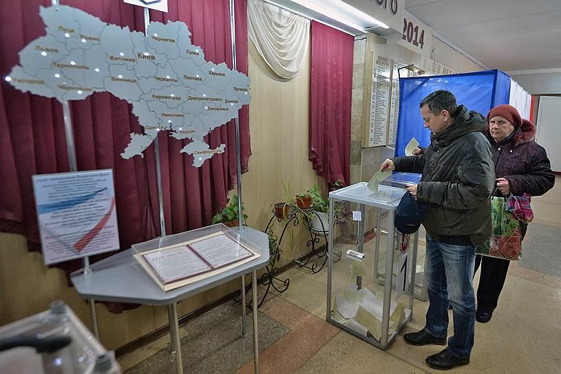 На референдуме 16 марта в Крыму за вхождение в состав Российской Федерации высказались 96,77% проголосовавших при явке 83,1%. В Севастополе за присоединение проголосовали 96,59% при явке 89,5%