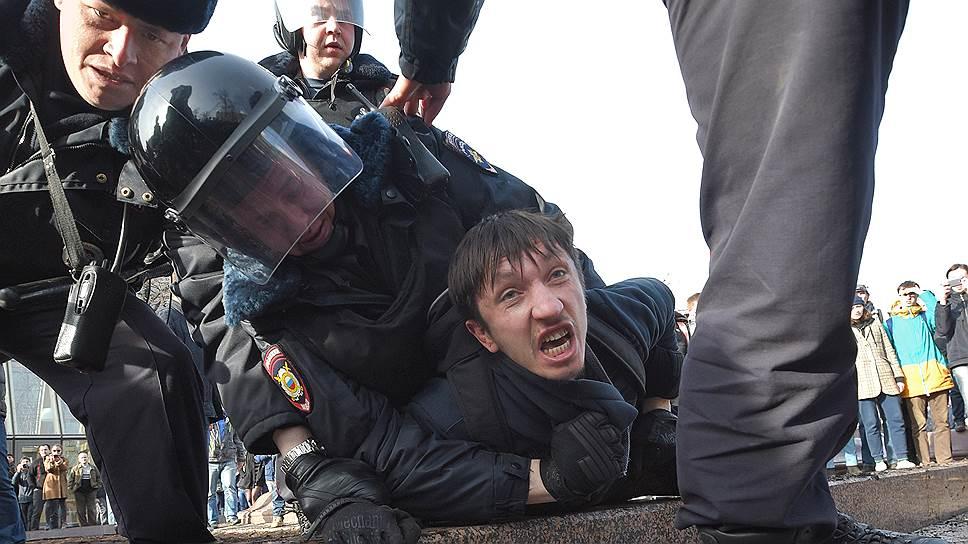 Как в Москве прошла несанкционированная акция оппозиции