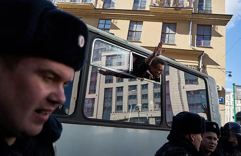 Москва. Задержания политика Алексея Навального