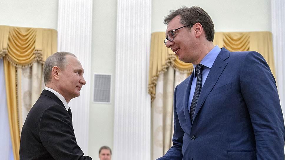 Как прошла встреча Владимира Путина с премьер-министром Сербии Александром Вучичем