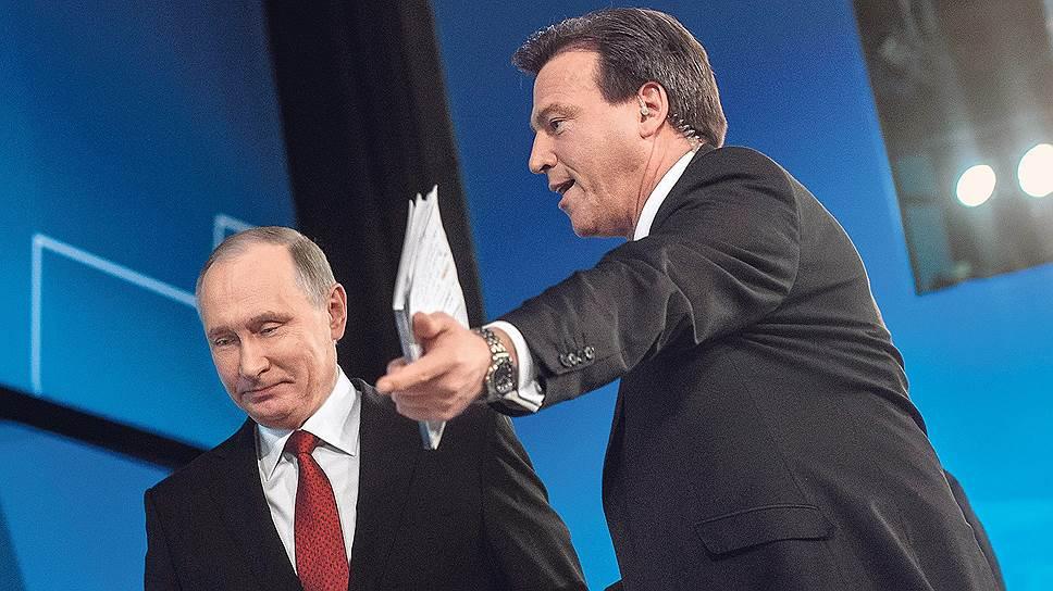 Американский телеведущий Джефф Катмор два часа указывал Владимиру Путину направление развязавшейся дискуссии