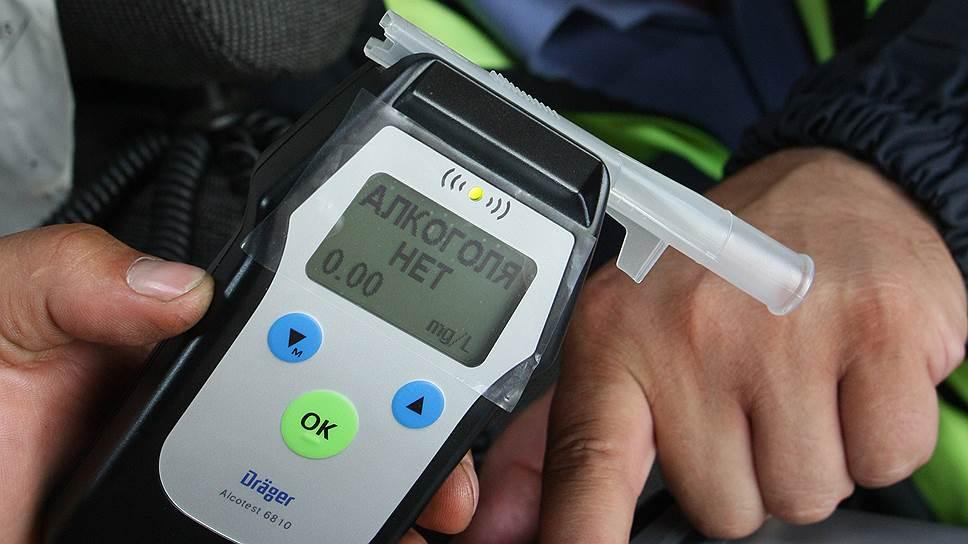 Водителей могут заставить проходить тест на алкоголь