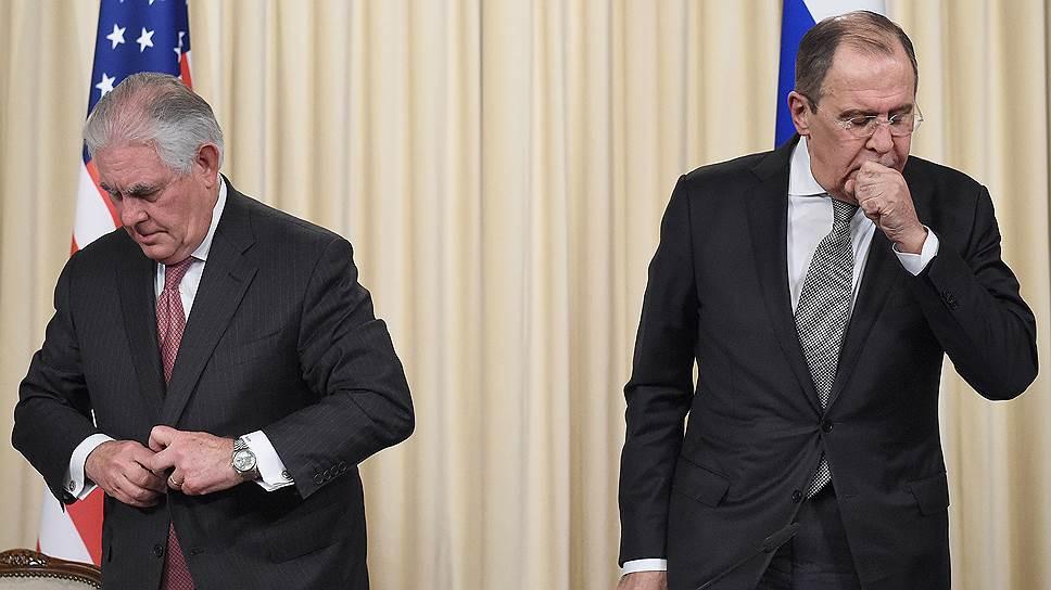 Рекс Тиллерсон и Сергей Лавров сохранили разногласия по Сирии, но решили их не углублять
