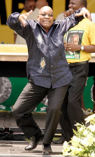 Экс-президент ЮАР Джейкоб Зума на праздновании юбилея партии «Африканский национальный конгресс»