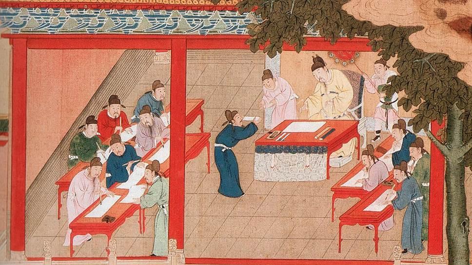 Истоки гаокао — в экзамене на звание мандарина, кэцзюй, который 13 веков сдавали все кандидаты в чиновники