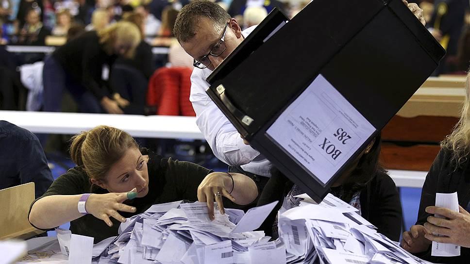 Консервативная партия не смогла набрать абсолютное большинство голосов на парламентских выборах
