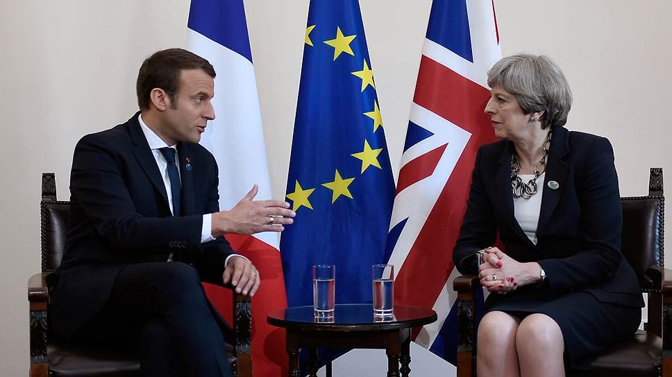 Президент Франции Эмманюэль Макрон и премьер-министр Великобритании Тереза Мэй