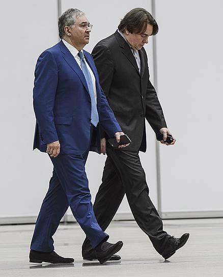 Председатель ВГТРК Олег Добродеев (слева) и генеральный директор телекомпании «Первый канал» Константин Эрнст