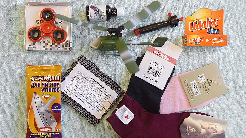 Спиннер, вертолет, носки, карандаши для чистки утюга и одежды — все это можно купить в вагоне дешевле, чем в магазине