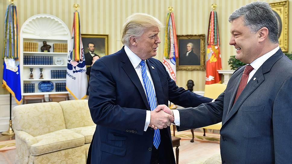 Встреча Дональда Трампа с Петром Порошенко в Белом доме была теплой, но краткой
