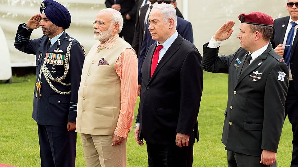 Премьер-министр Индии Нарендра Моди и израильский премьер Биньямином Нетаньяху