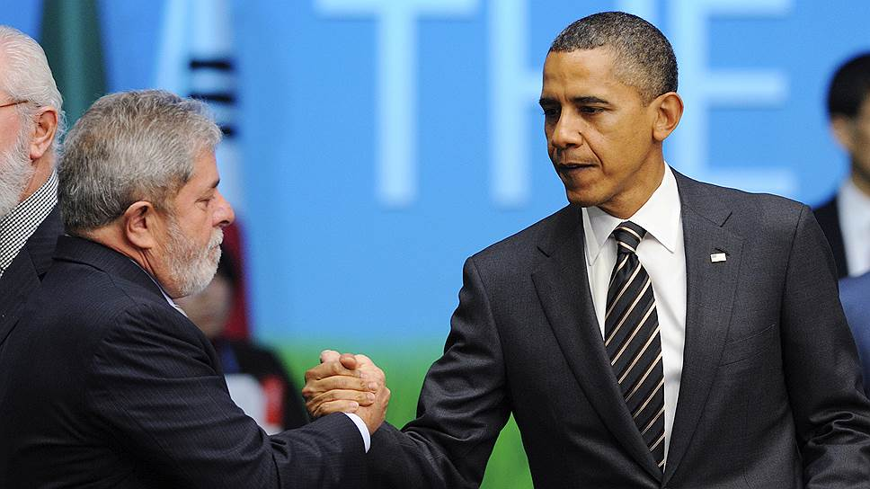 Президенты Бразилии да Силва и США Обама подготовились к вопросу о валютных войнах перед саммитом G20 в 2010 году